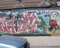 Graffiti wall in Bushwick